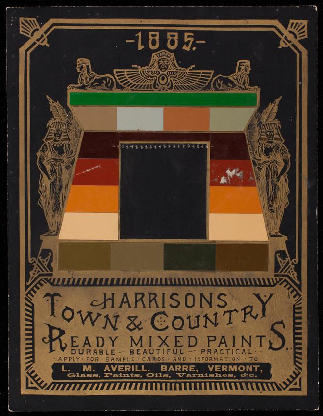 Harrisons Town & Country Ready Mixed Paints, Harrison Bros. & Co., Inc., paint, colors, varnish, Philadelphia, Pennsylvania