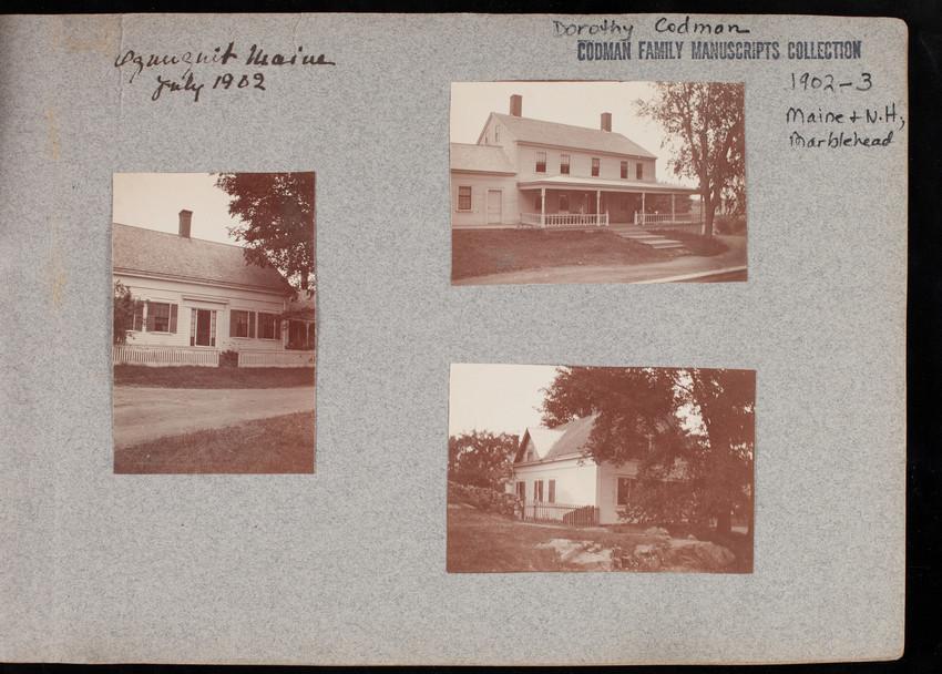Codman Album 8.0: Maine, New Hampshire, and Massachusetts, New York, 1902 - 1903
