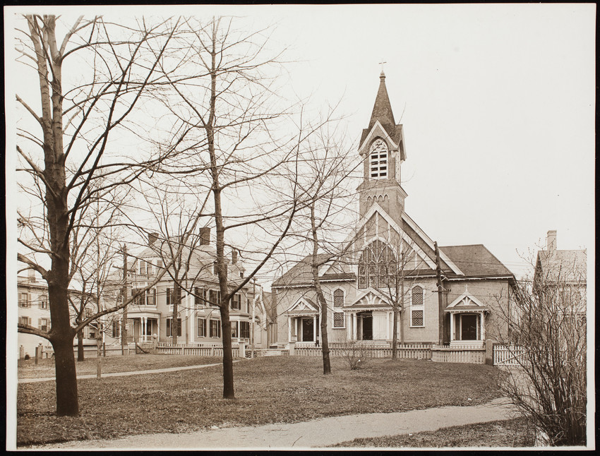 Exterior view of St. John's Church & Rectory, Swampscott, Mass.