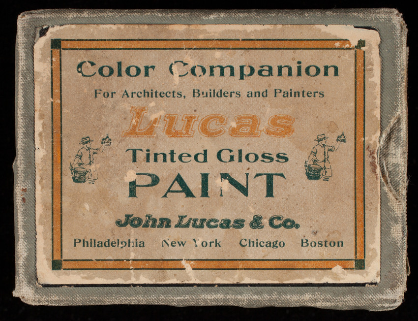 Color companion for architects, builders and painters, Lucas Tinted Gloss paint, John Lucas & Co., Philadelphia, Pennsylvania