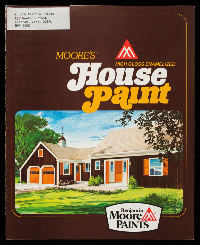 Moore's High Gloss Enamelized House Paint, Benjamin Moore Paints, Benjamin Moore & Co., Montvale, New Jersey