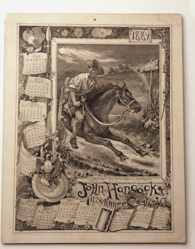 Calendar for John Hancock Mutual Life Insurance Company, Boston, Mass., 1889