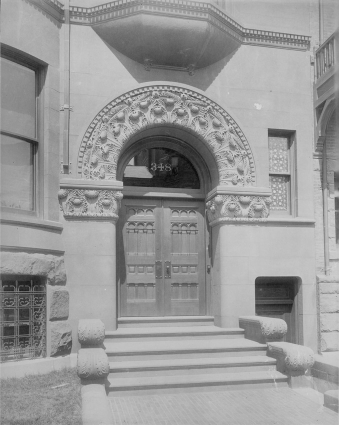 Exterior view of entryway, 348 Beacon St., Boston, Mass., undated