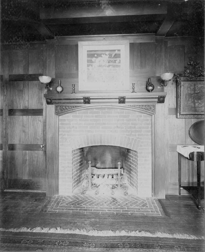 Fireplace, Thompson House, 161 Brattle Street, Cambridge, Mass., undated