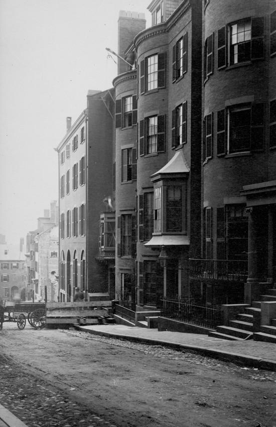 Somerset Street looking towards Hampton Place Church, Boston, Mass., undated