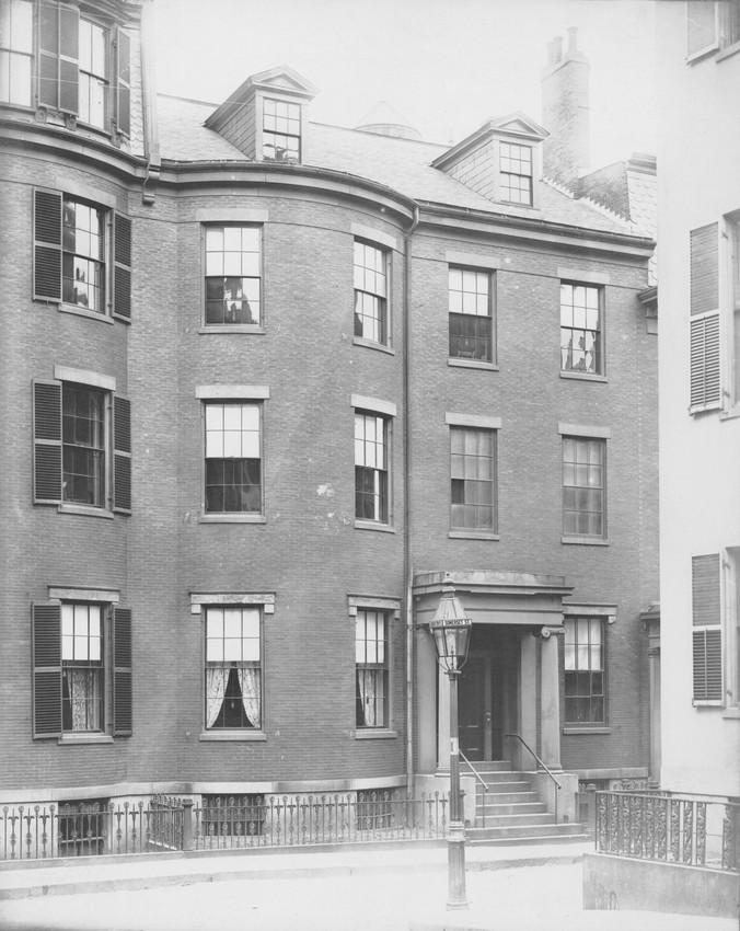 Exterior view of H.A. Lamb residence, Somerset St., Boston, Mass., undated