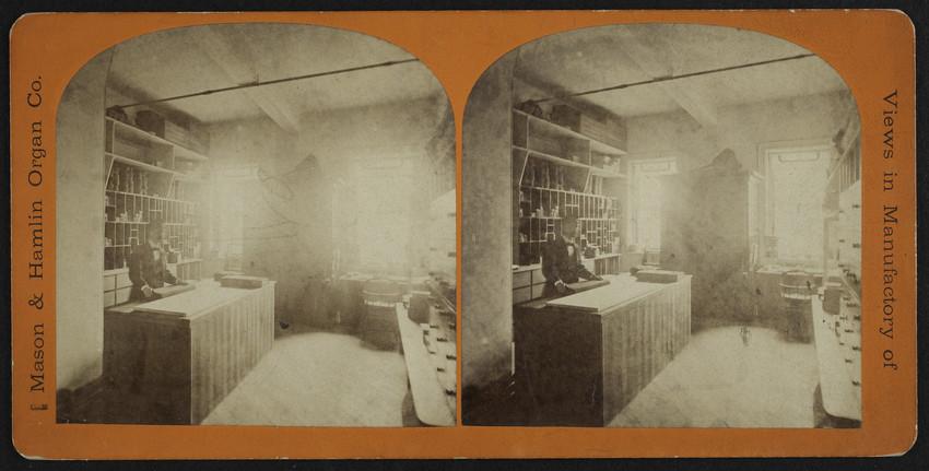 Views in Manufactory of Mason & Hamlin Organ Co., 1877