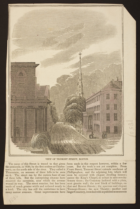 View of Tremont Street, Boston