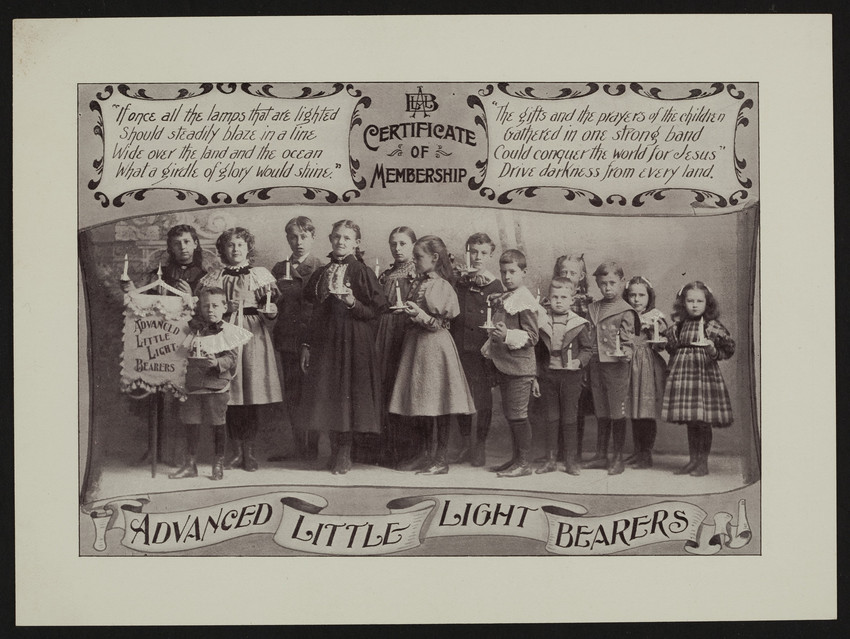 Membership certificate for the Advanced Little Light Bearers