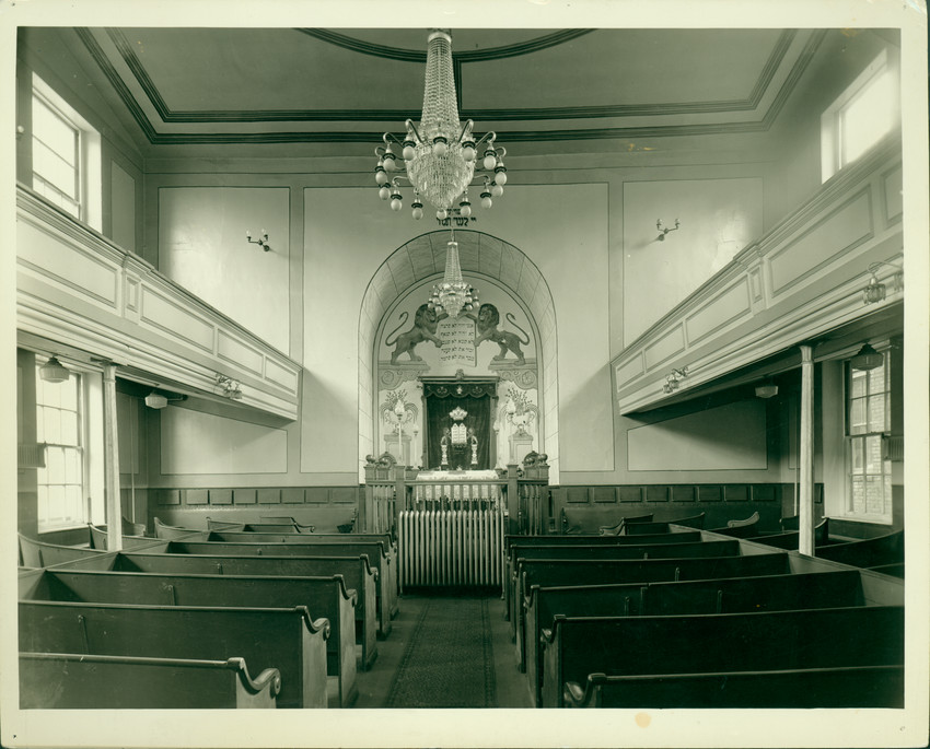 Interior View Of The African Meeting House Boston Mass Undated