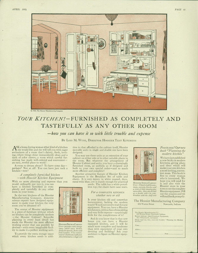 Advertit for Hoosier Kitchen Cabinets, Hoosier Manufacturing ... on 1910 hoosier cabinet, value of a white hoosier cabinet, repurposed hoosier cabinet, decorating a hoosier cabinet, marsh hoosier cabinet, antique hoosier cabinet, mid century hoosier cabinet, small hoosier cabinet, worth of a hoosier cabinet, spring latches for cabinet, original colors of a hoosier cabinet, country general store display cabinet, oak hoosier cabinet, hoosier beauty cabinet, hoosier pantry cabinet, red hoosier cabinet, hoosier cabinet plans,