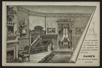 Trade Card For Paine S Furniture Manufactory 48 Canal