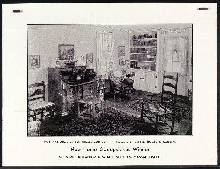 1935 National Better Homes Contest, New Home--Sweepstakes