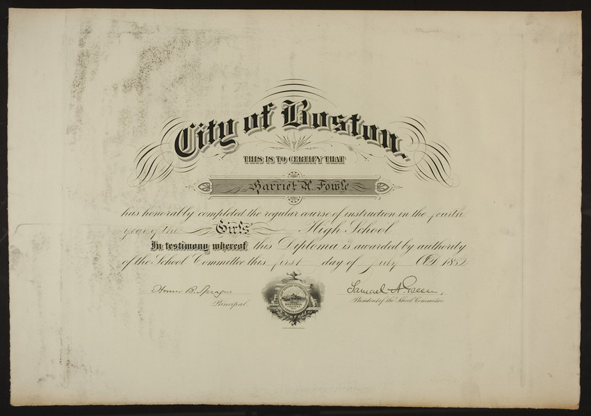 girl s high school diploma historic new england collection type