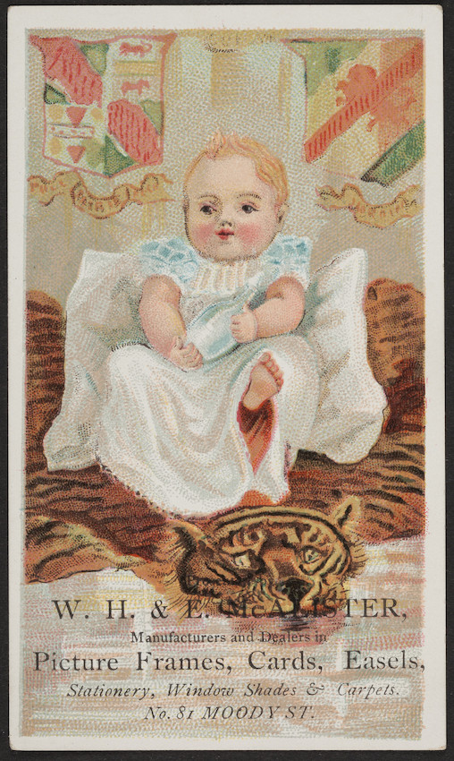 Trade Card For Wh E Mcalister Manufacturers And Dealers In