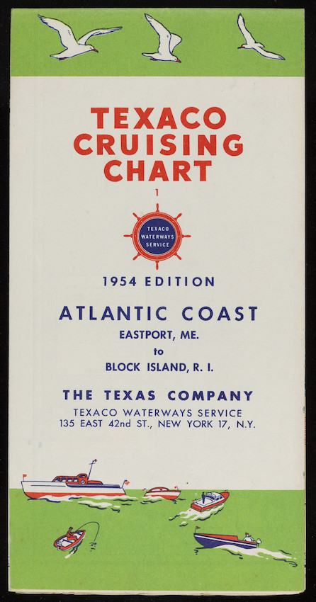 Texaco Cruising Chart | Historic New England