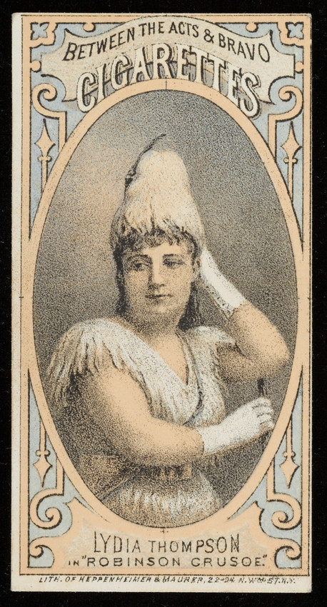 Cigarette Card For Between The Acts Cigarettes Thos H Hall Manufacturer New York Undated