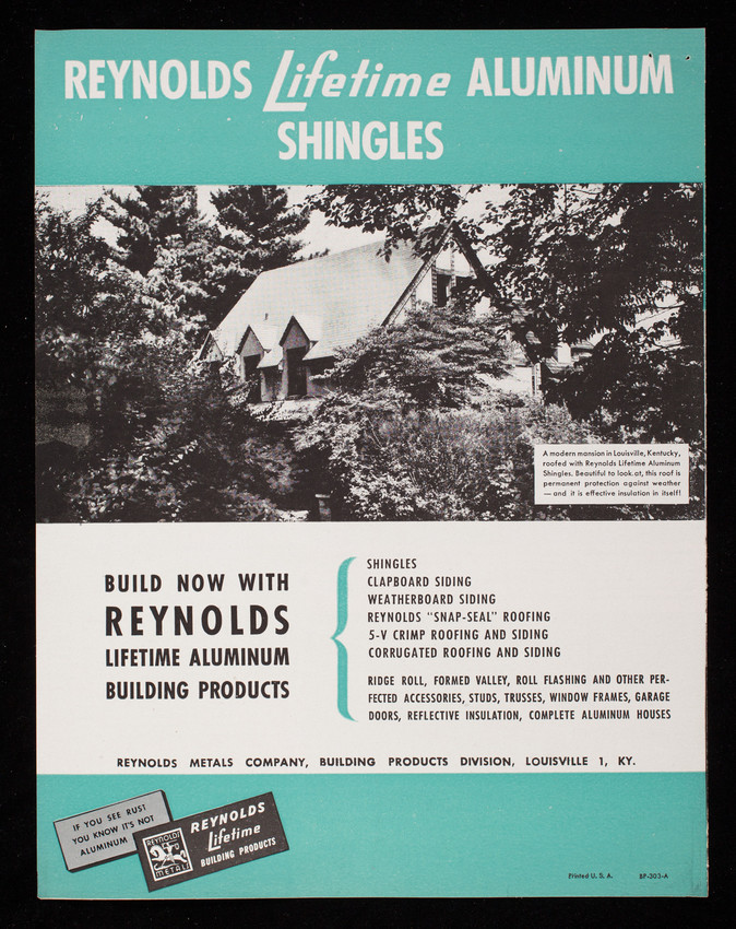 Reynolds lifetime aluminum shingles reynolds metal co inc collection type solutioingenieria Choice Image