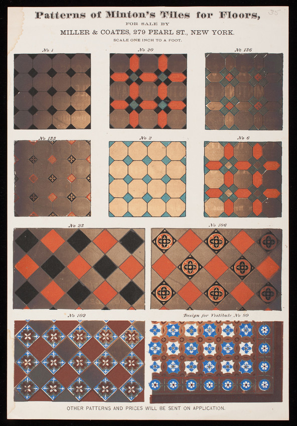 Patterns Of Mintons Tiles For Floors For Sale By Miller Coates