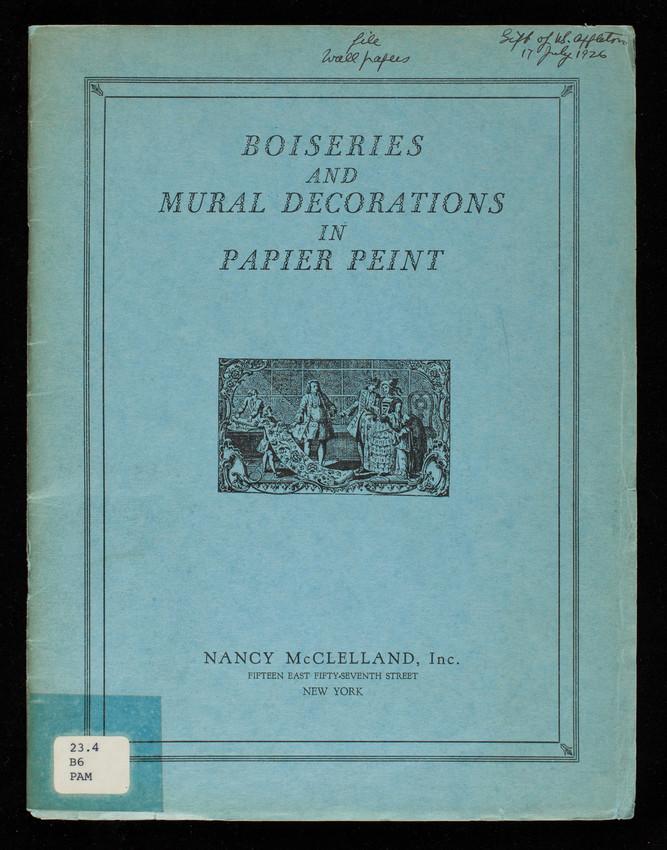 Boiseries and mural decorations in papier peint, Nancy McClelland