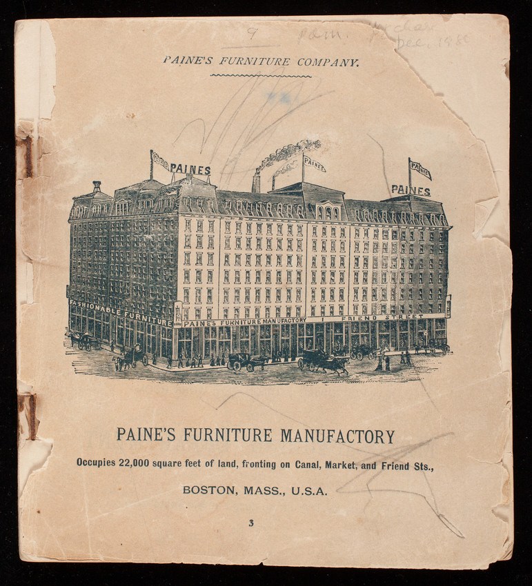 Catalog Paine S Furniture Company Canal Market And Friend Streets