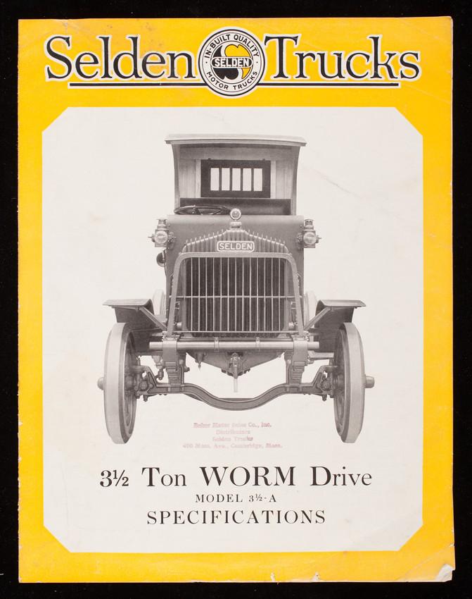 Selden Trucks, 3 1/2 ton worm drive Model 3 1/2-A specifications ...