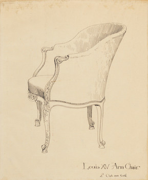 Louis XV Arm Chair of Oak and Gold