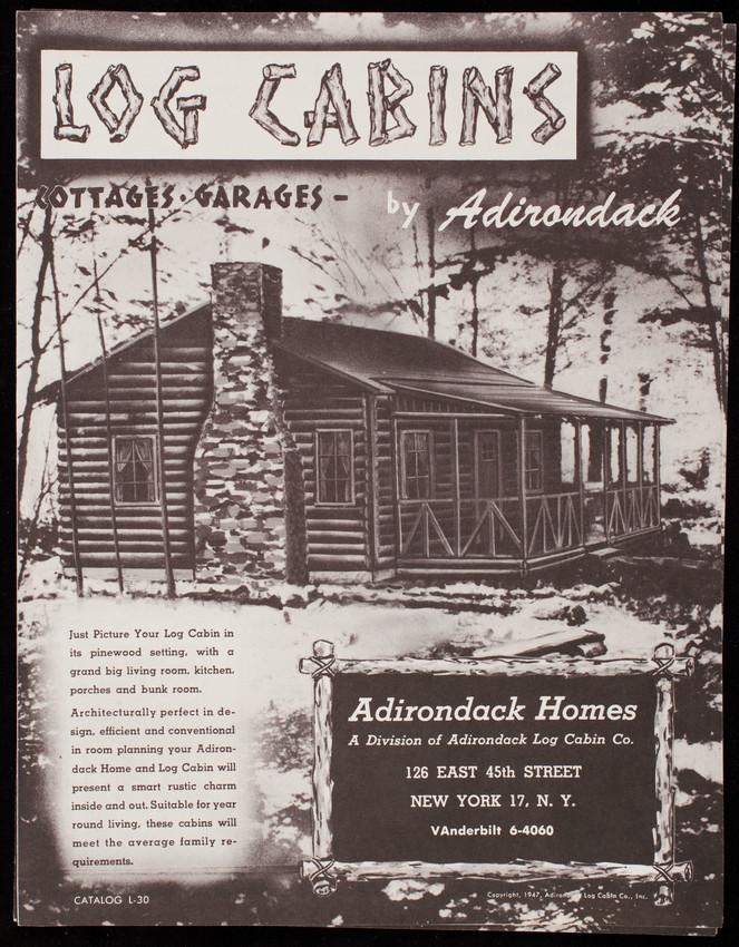 Log cabins, cottages, garages, by Adirondack, catalog L-30 ...