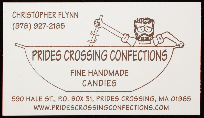 Business card for prides crossing confections fine handmade candies collection type reheart Images