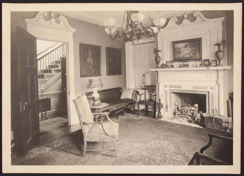 Interior View Of The Lippitt Green House, Back Parlor No. 3, 14 John  Street, Providence, R.I., 1919