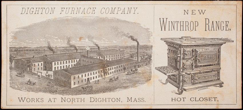 Trade card, Winthrop Ranges, Dighton Furnace Company, North