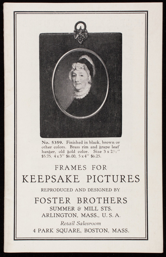 Frames for keepsake pictures, reproduced and designed by Foster ...