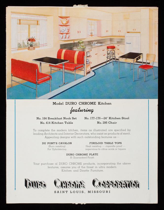Model Duro Chrome kitchen, Duro Chrome Corporation, 1814 ...