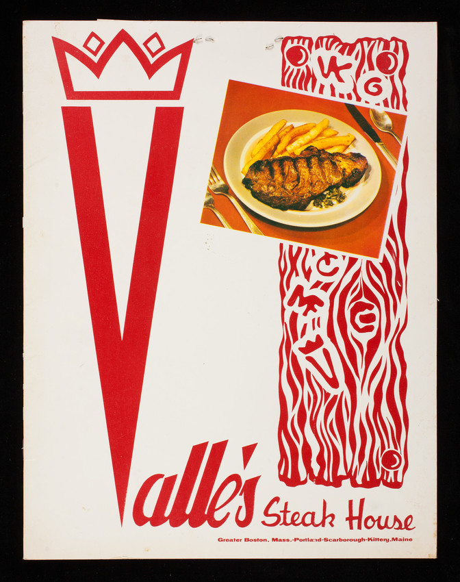 Menu Valle S Steak House Greater Boston Mass Portland