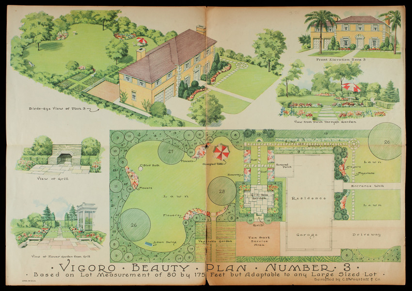 Vigoro beauty plan number 3, designed by C D  Wagstaff & Co