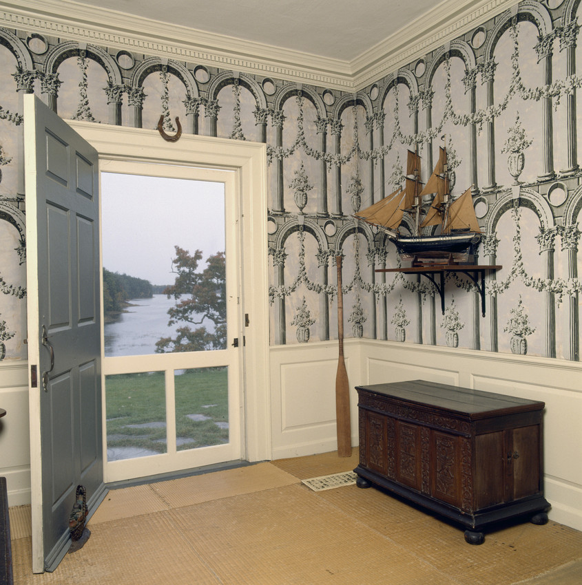 Collection Type & Hallway river door with ship model Hamilton House South Berwick ...